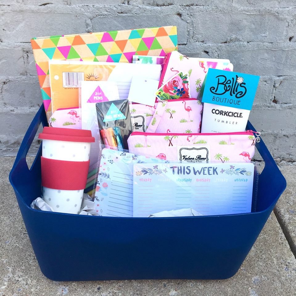 Back to school giveaway basket