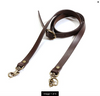 Thin Leather Purse Strap in Brown