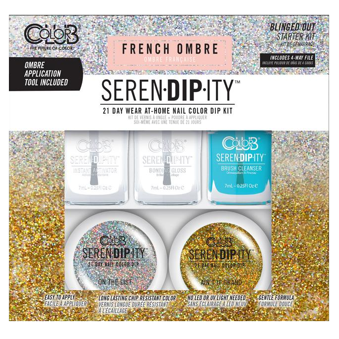 Color Club - Serendipity French Ombre Dip Starter Kit - Blinged Out