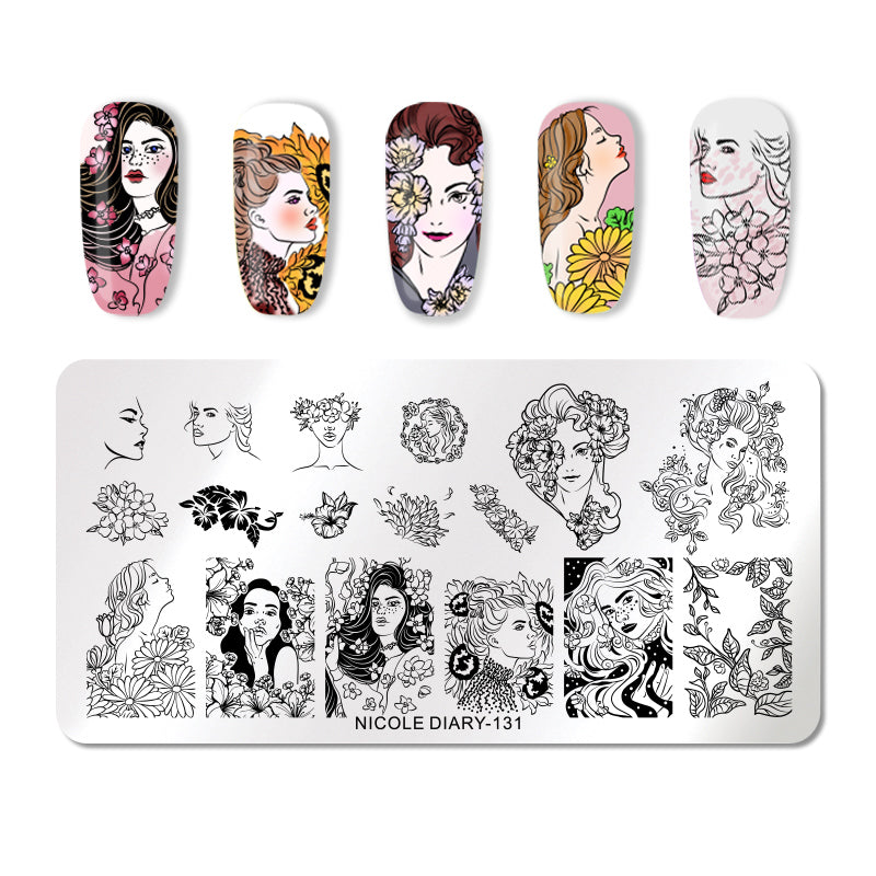 Nicole Diary - 131 Ladies in Vogue Stamping Plate
