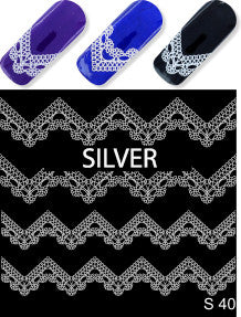 Milv - Water decals S40 silver