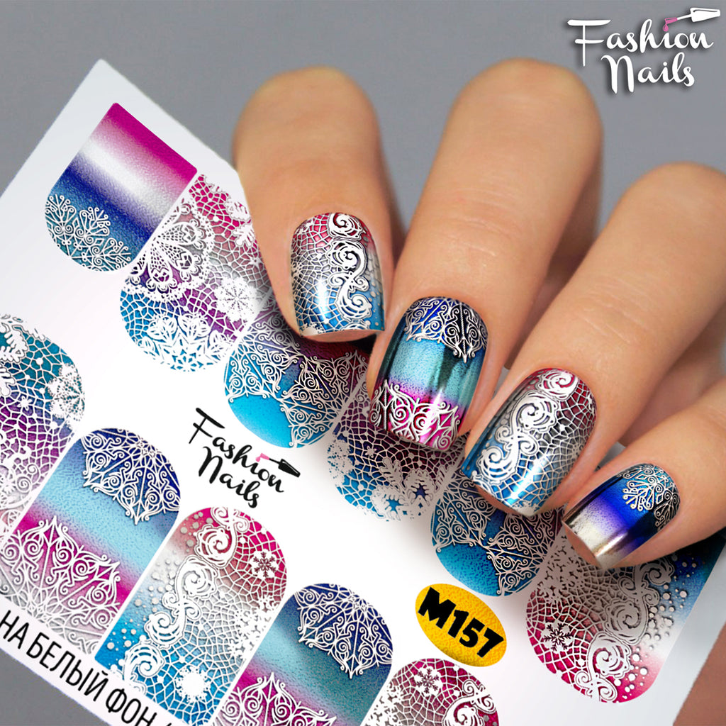 Fashion Nails - Metallic 157 Water Decals