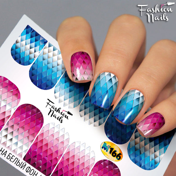 Fashion Nails - Metallic 166 Water Decals