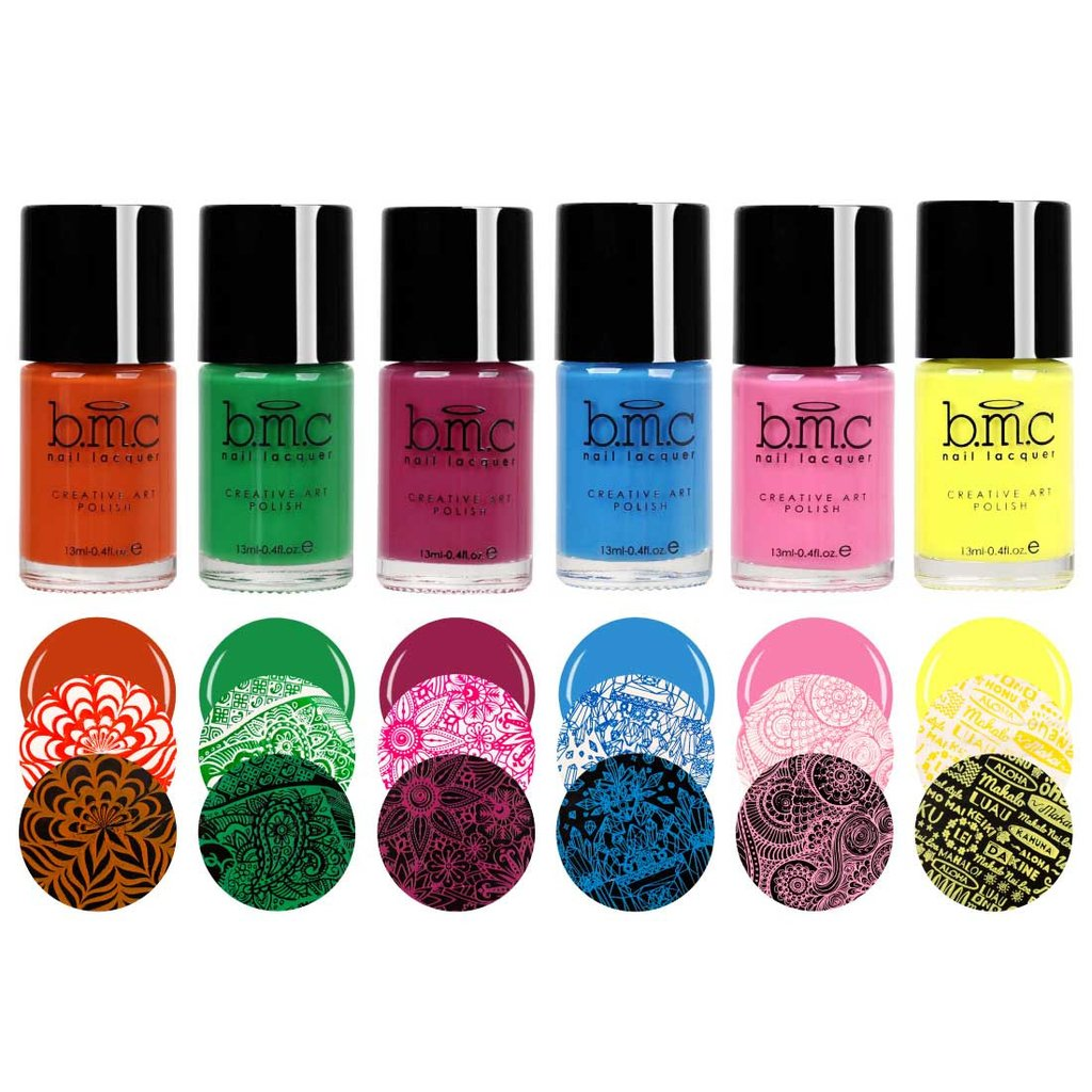 Bundle Monster Bright Bold Nail Art Stamping Polishes Winter
