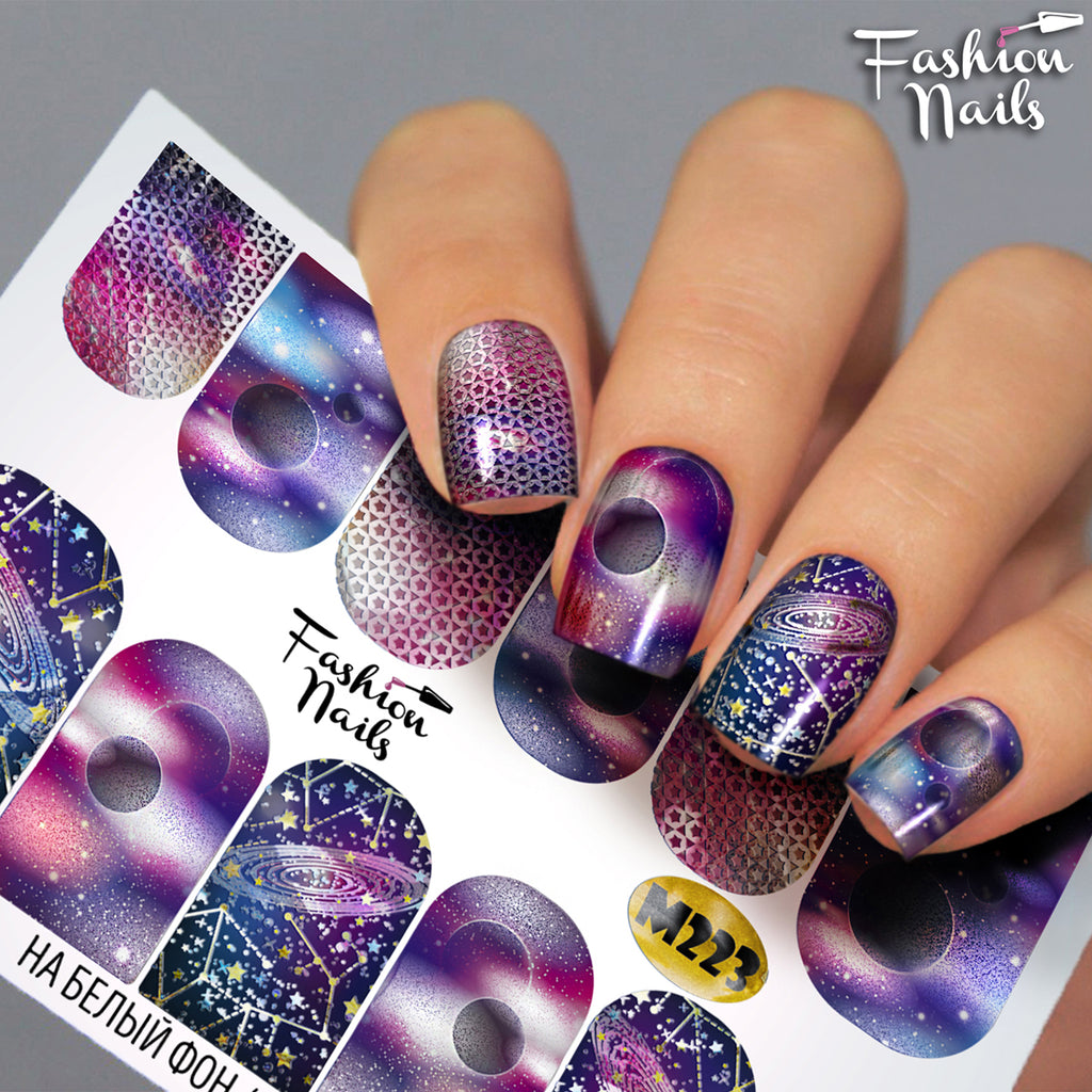 Fashion Nails - Metallic 223 Water Decals
