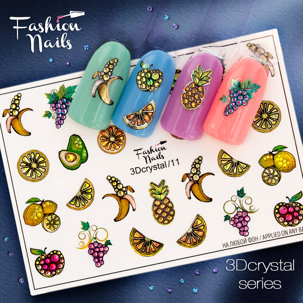 Fashion Nails - 3D Crystal 11 Water Decals
