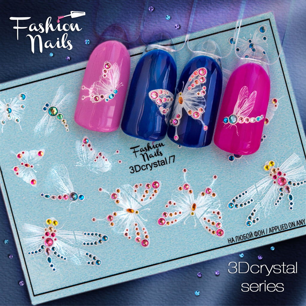 Fashion Nails - 3D Crystal 7 Water Decals | Whats Up Nails