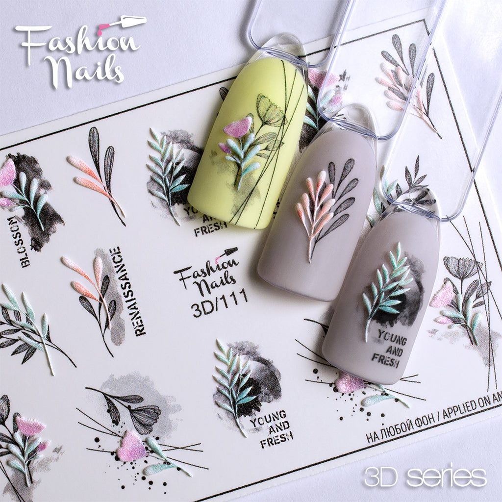 Fashion Nails - 3D 111 Water Decals