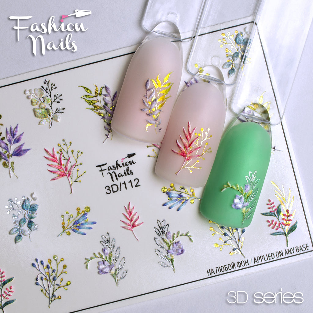Fashion Nails - 3D 112 Water Decals