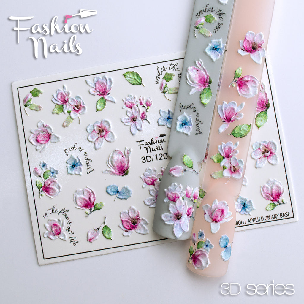 Fashion Nails - 3D 120 Water Decals