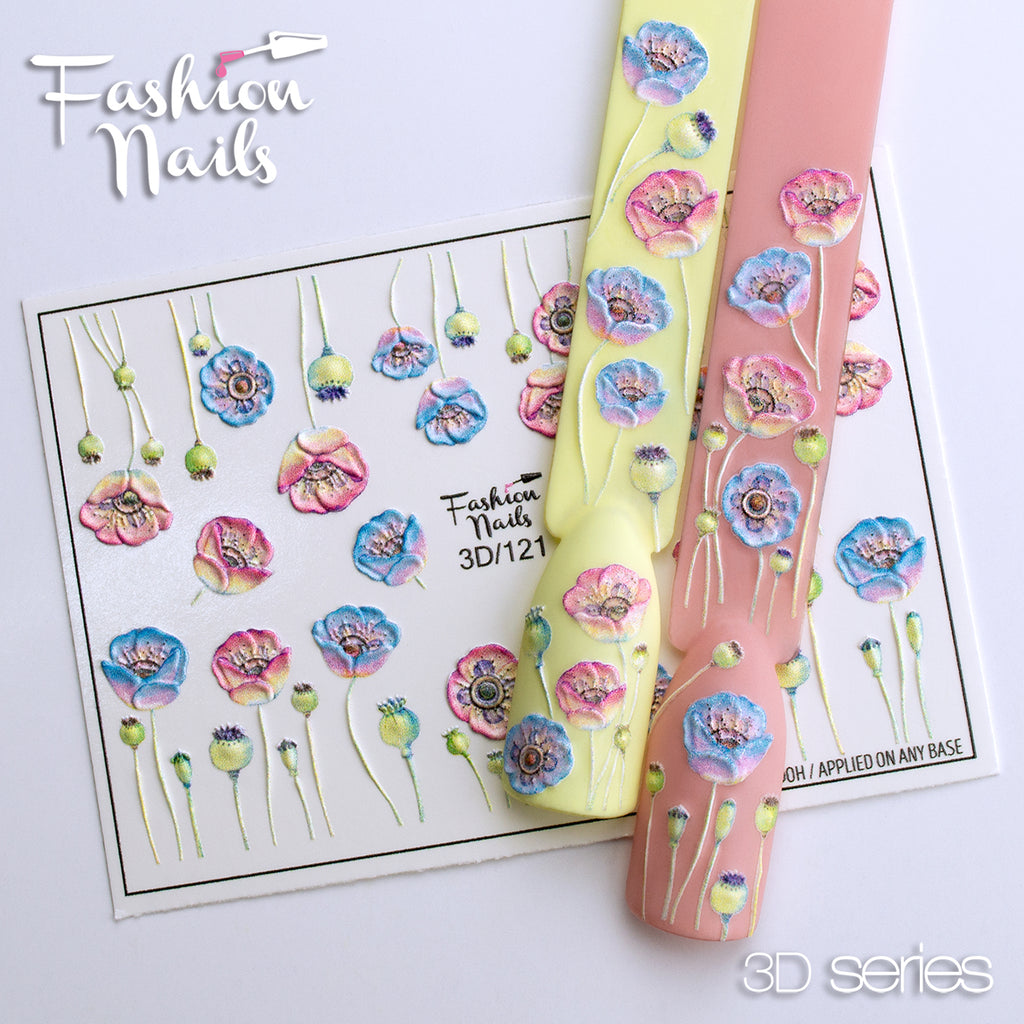 Fashion Nails - 3D 121 Water Decals