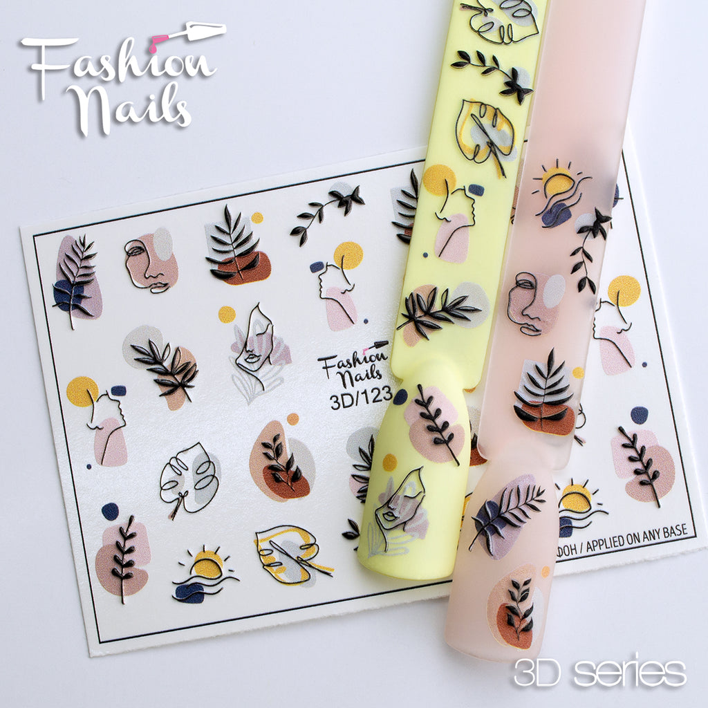 Fashion Nails - 3D 123 Water Decals