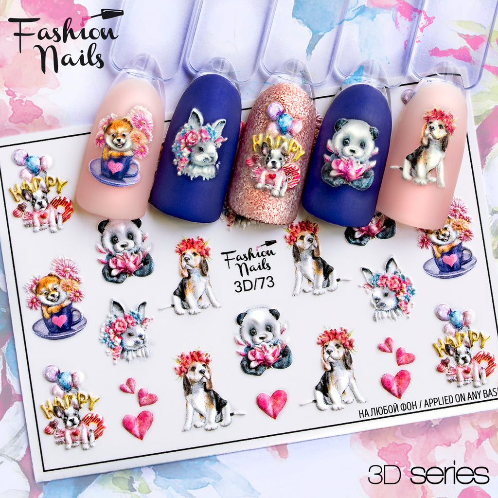 Fashion Nails - 3D 73 Water Decals