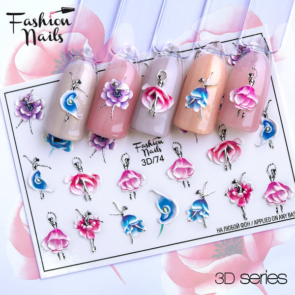 Fashion Nails - 3D 74 Water Decals