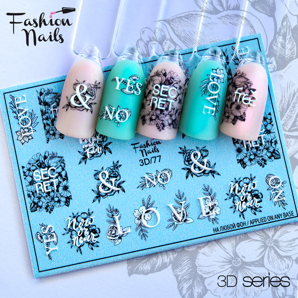 Fashion Nails - 3D 77 Water Decals