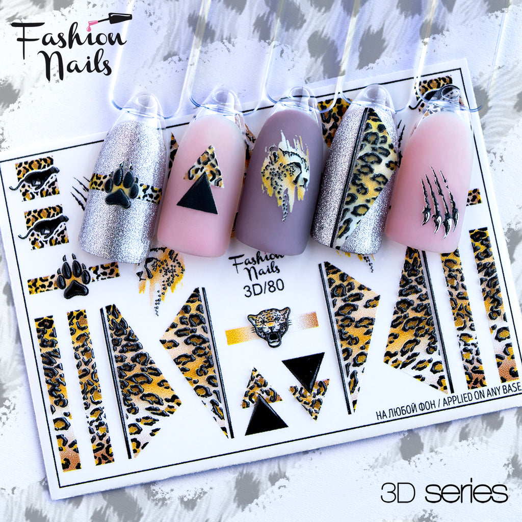 Fashion Nails - 3D 80 Water Decals