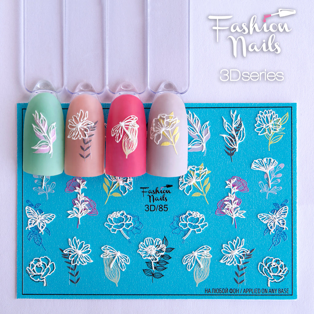 Fashion Nails - 3D 85 Water Decals