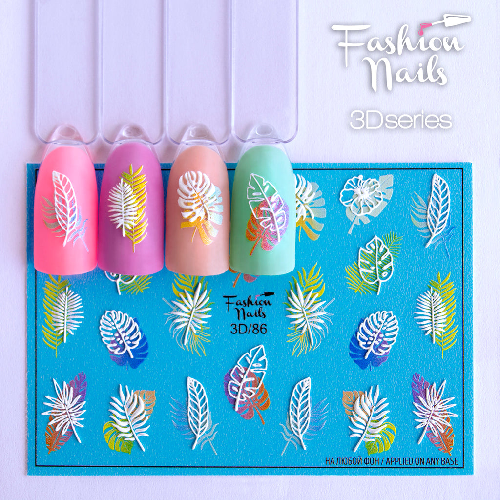 Fashion Nails - 3D 86 Water Decals