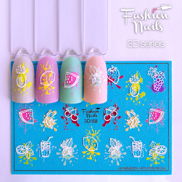 Fashion Nails - 3D 88 Water Decals