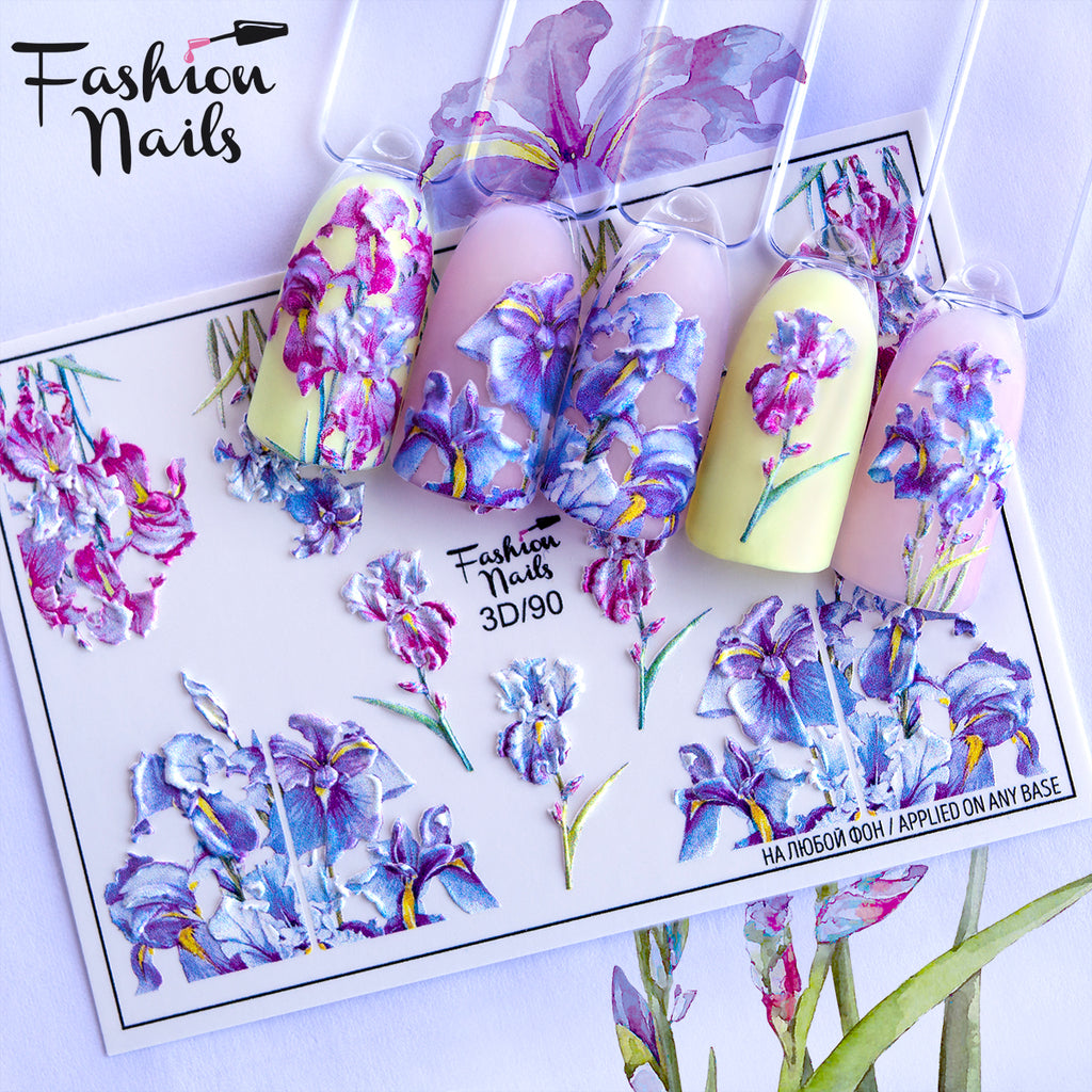 Fashion Nails - 3D 90 Water Decals