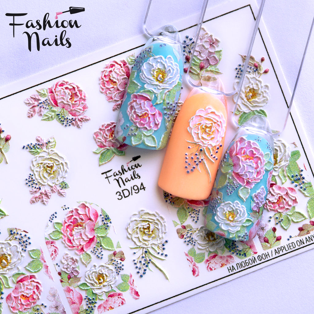 Fashion Nails - 3D 94 Water Decals