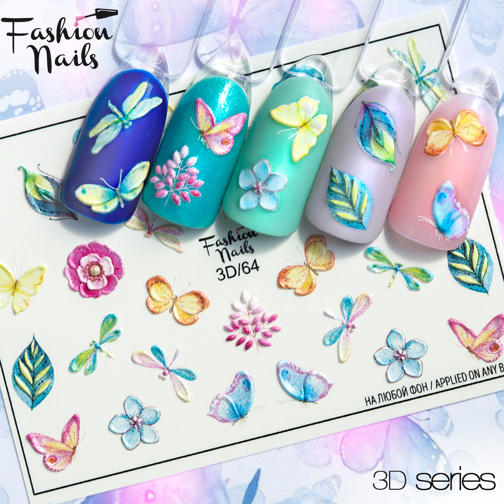 Fashion Nails - 3D 64 Water Decals