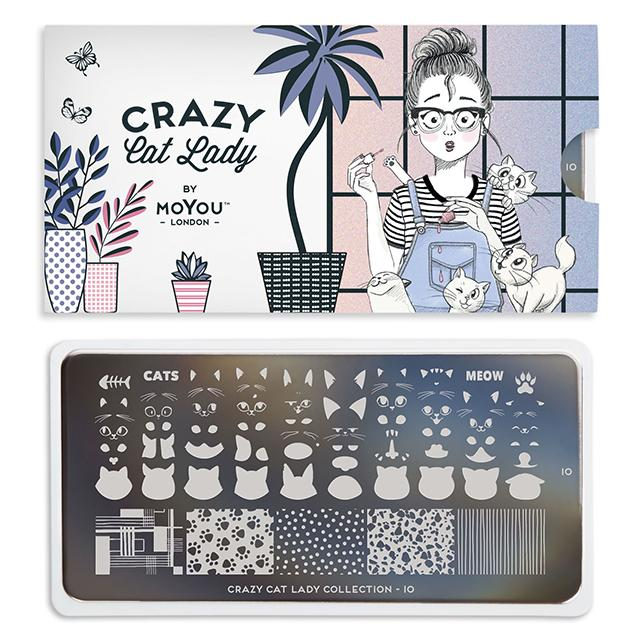 MoYou-London - Crazy Cat Lady 10 Stamping Plate