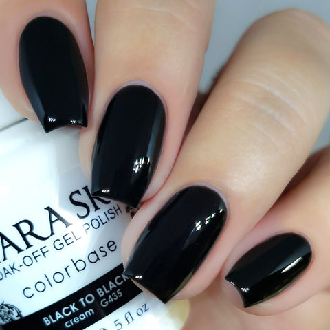 Kiara Sky - G435 Black to Black Gel Polish