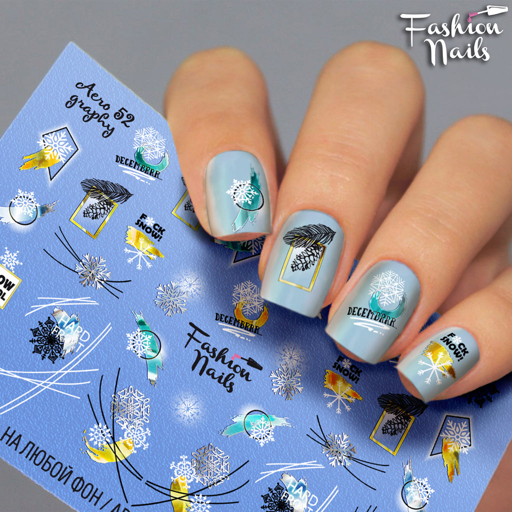 Fashion Nails - AEROgraphy 52 Water Decals