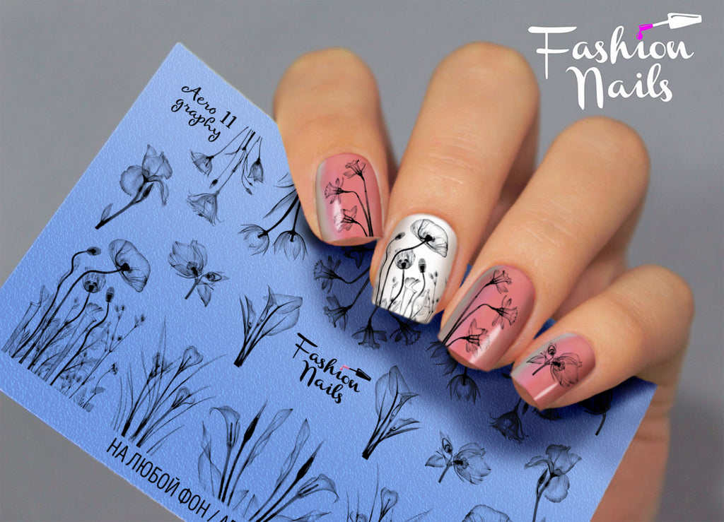 Fashion Nails - AEROgraphy 11 Water Decals