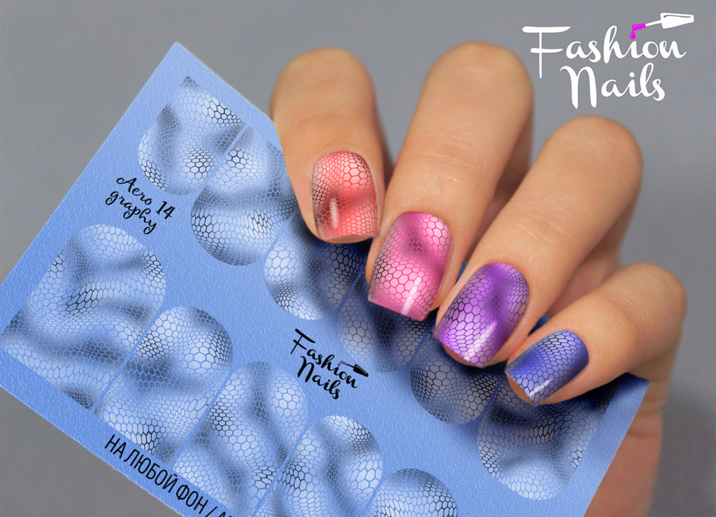 Fashion Nails - AEROgraphy 14 Water Decals