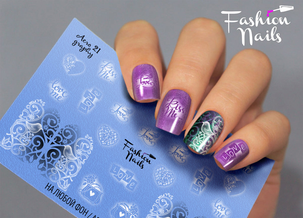 Fashion Nails - AEROgraphy 21 Water Decals