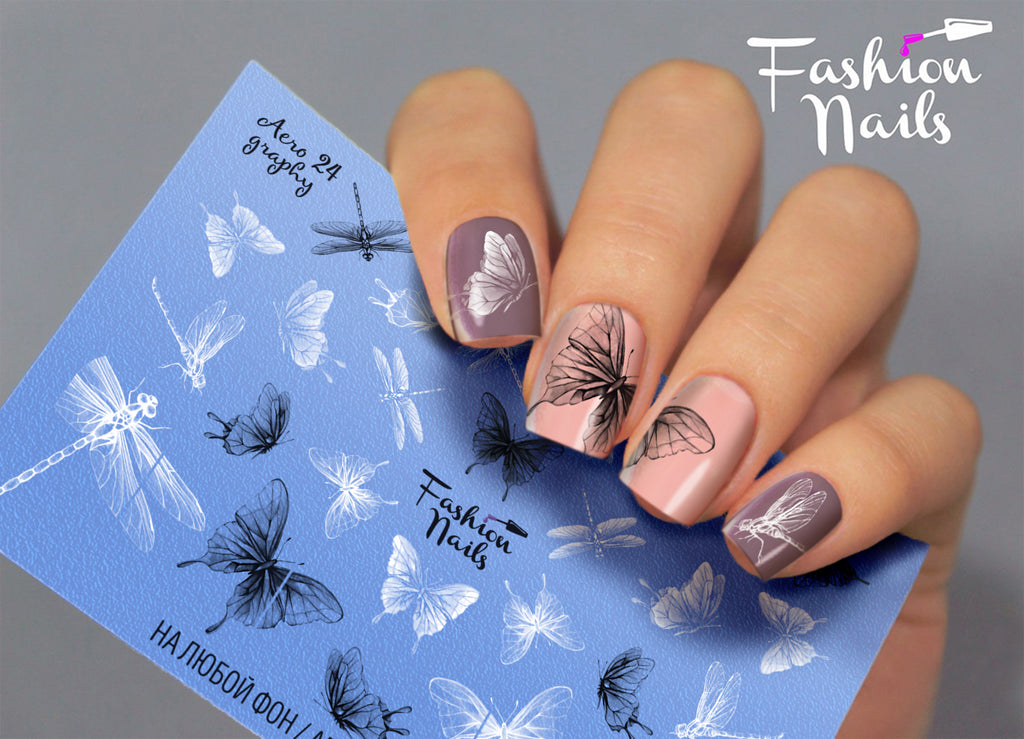 Fashion Nails - AEROgraphy 24 Water Decals