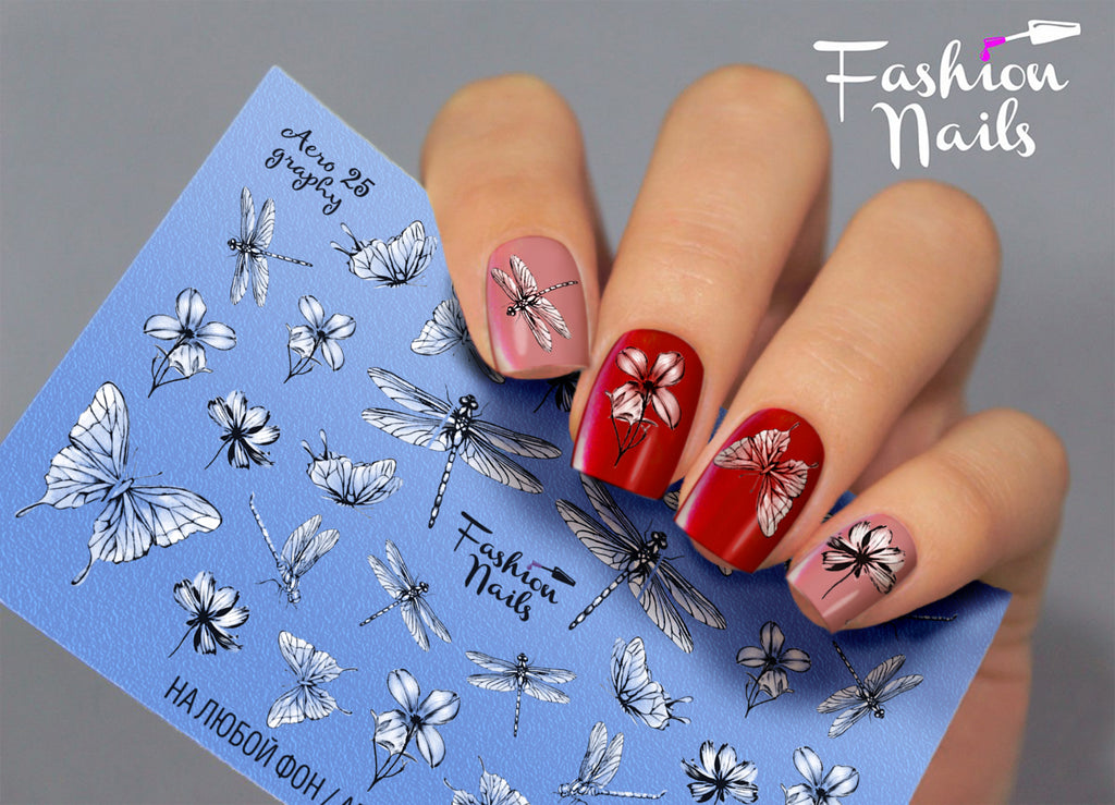 Fashion Nails - AEROgraphy 25 Water Decals