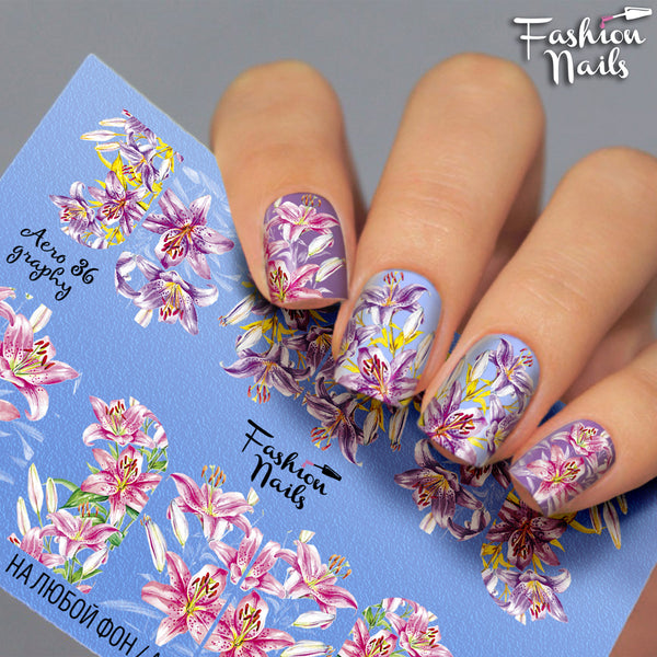 Fashion Nails - AEROgraphy 36 Water Decals