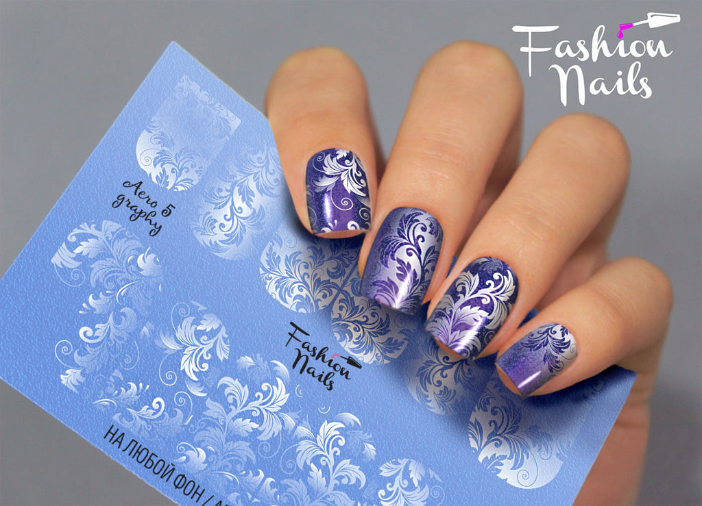 Fashion Nails - AEROgraphy 5 Water Decals