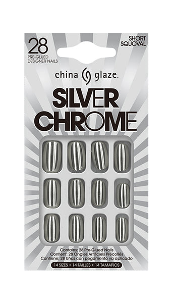 China Glaze - Silver Chrome Nail Tips