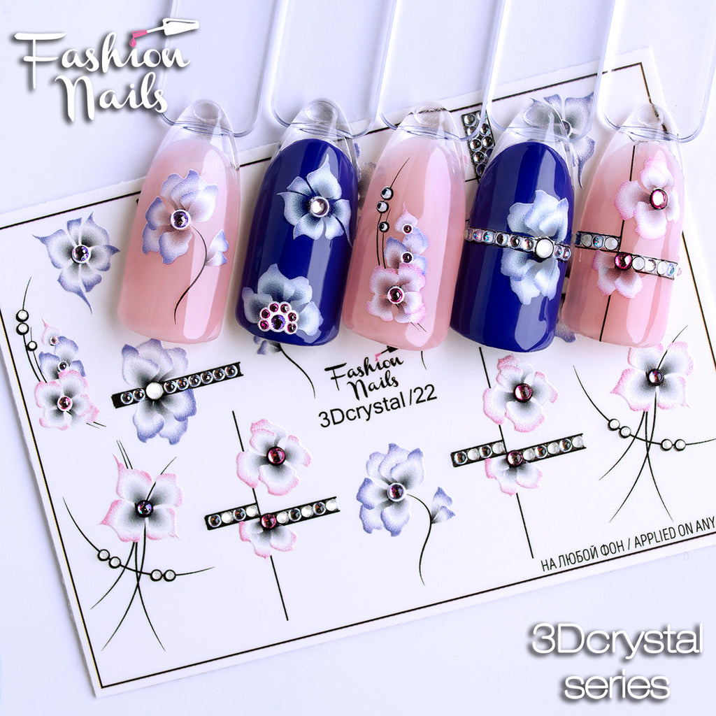 Fashion Nails - 3D Crystal 22 Water Decals
