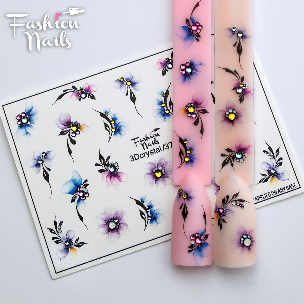 Fashion Nails - 3D Crystal 37 Water Decals