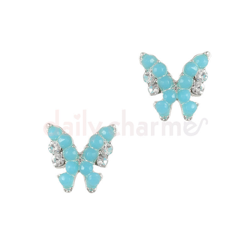Daily Charme - Beaded Butterfly / Silver / Blue