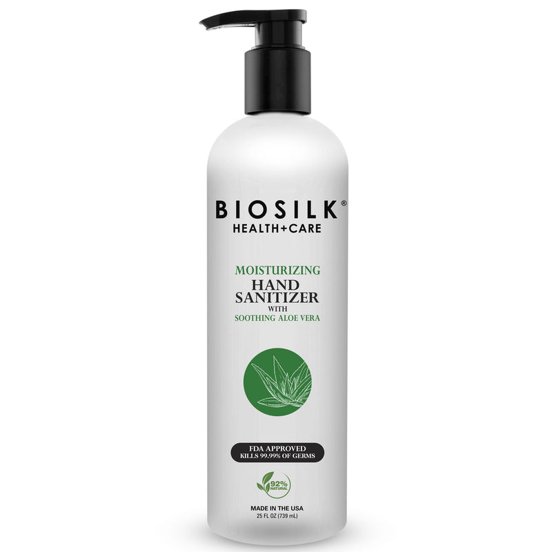 BioSilk - Aloe Vera Hand Sanitizer with Pump 25 fl oz