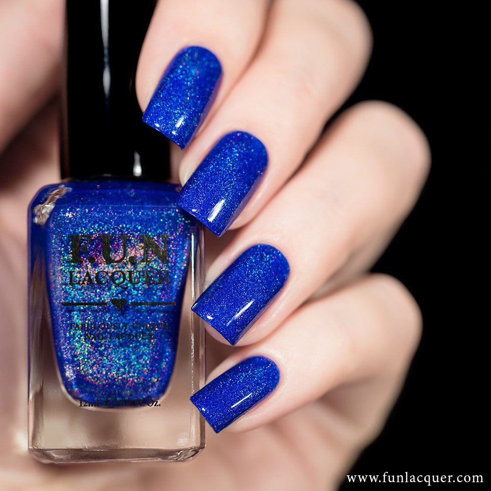 fun lacquer blue christmas - Blue Christmas Nails