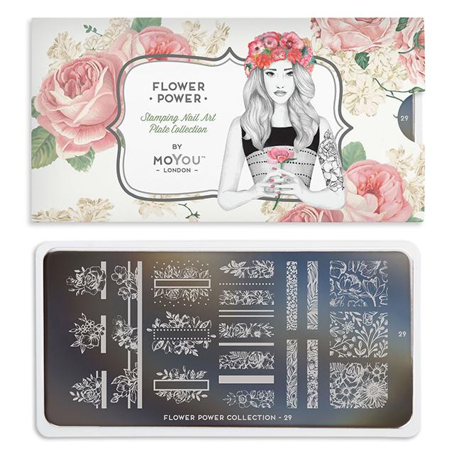 MoYou-London - Flower Power 29 Stamping Plate
