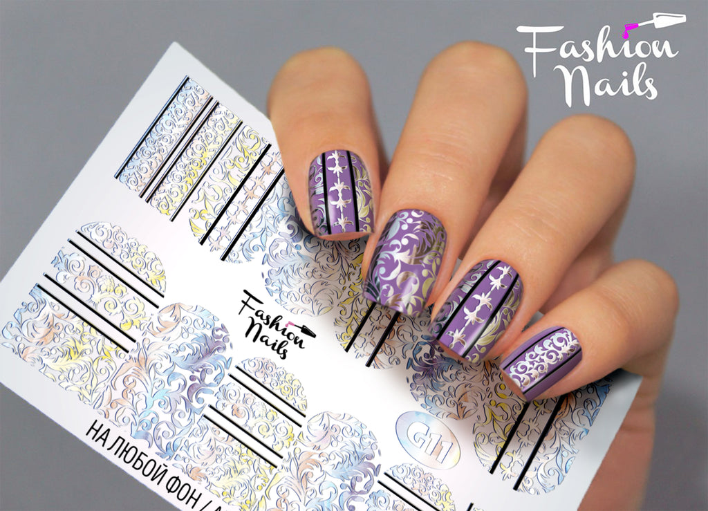 Fashion Nails - Galaxy 11 Water Decals