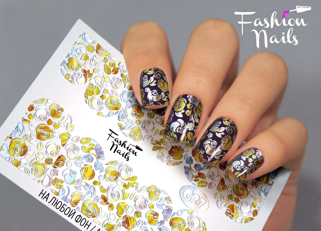 Fashion Nails - Galaxy 37 Water Decals