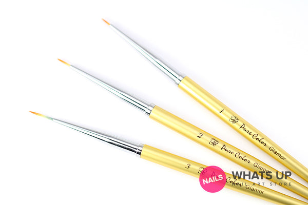 Whats Up Nails - Pure Color Glamor #1, 2, 3 Brushes