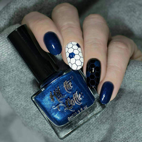 Hit The Bottle - I Blue It All On Polish Stamping Polish