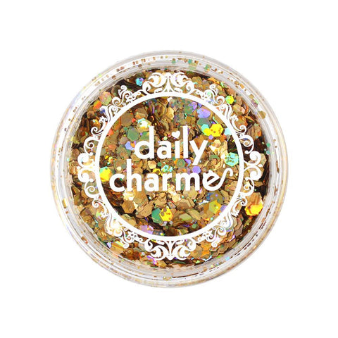 Daily Charme - Holographic Mixed Hex Glitter / 20G / Gold