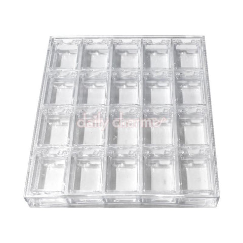 Daily Charme - Acrylic Nail Art Decor Storage Box (Clear)