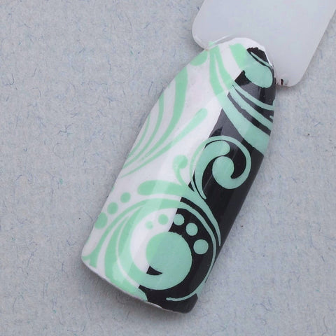 Hit The Bottle - Peppermint Zombie Stamping Polish